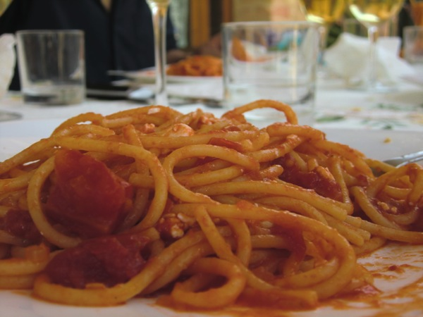 spaghetti all'amatoriciana